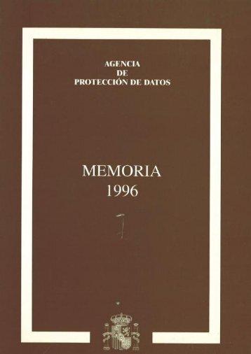 1996 - Agencia Española de Protección de Datos