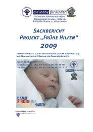 """Sachbericht Projekt """"Frühe Hilfen"""" - Deutscher Kinderschutzbund ..."""
