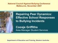 Repairing Peer Dynamics - National Centre Against Bullying