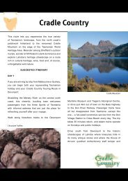 Download Cradle Country Itinerary - Discover Tasmania