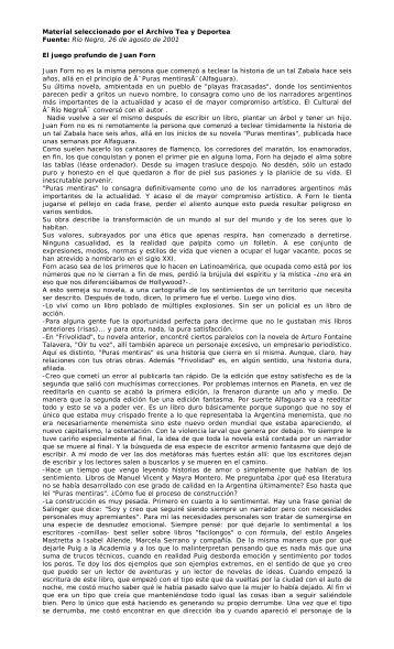 Fuente: Río Negro, domingo 26 de agosto de 2001 - Winisisonline ...
