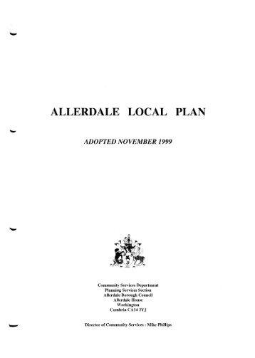 Allerdale Local Plan 1999 in PDF format - Allerdale Borough Council