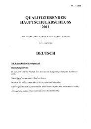 Qualifizierender Hauptschulabschluss 2011, Teil B