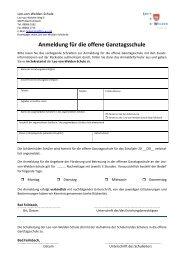 Anmeldung für die offene Ganztagsschule -  auf der Homepage der ...