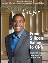Issue 74 - Stanford Lawyer - Stanford University
