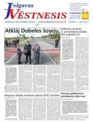 2011.gada 15.septembris Nr.36(221) - Jelgavas Vēstnesis