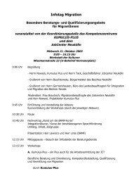 Programm vom Infotag - KUMULUS-PLUS