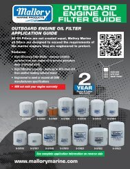 OUTBOARD ENGINE OIL FILTER GUIDE - Boat Parts