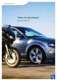 Villkor för Motorfordon - Insplanet