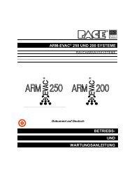 ARM-EVAC 250 UND ARM-EVAC 200