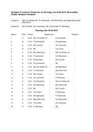 Spielplan D-Junioren Feldturnier vom 23 - SV Blau-Weiß Hand