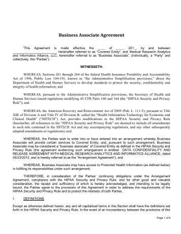 Business Associate Agreement   State Of Illinois