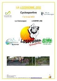 Présentation générale Lozérienne 2012 - Le Cyclo'Tour