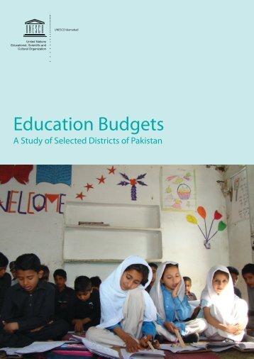 Education Budgets - UNESCO Islamabad
