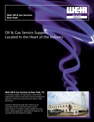 WO&G SRVICES FLYER - FRONT - Weir Oil & Gas Division