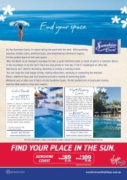 Find your space. - Queensland Holidays