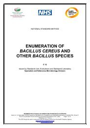 enumeration of bacillus cereus and other bacillus species