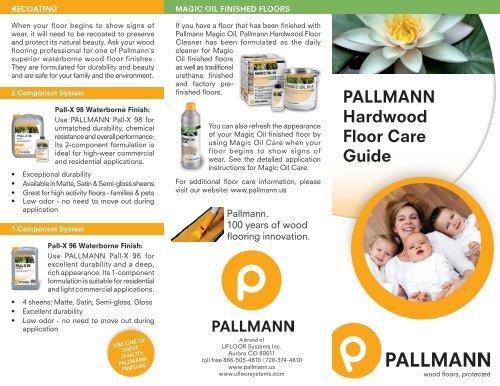 Pallmann Hardwood Floor Cleaner Carpet Vidalondon
