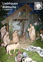 Liebfrauenblaettsche Weihnachten 2011 - Katholische Pfarrei ...