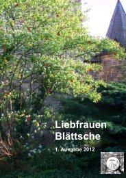 Liebfrauenblättsche Ausgabe 1-2012 - Katholische Pfarrei ...