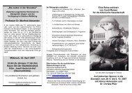 Entwurf eines Faltblattes - Kölnische Gesellschaft für christlich ...