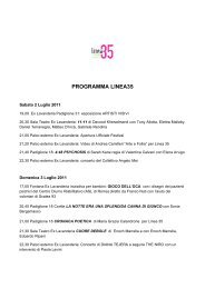 PROGRAMMA LINEA35 - art a part of cult(ure)
