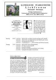 Bessungen - Katholische Pfarrei Liebfrauen Darmstadt