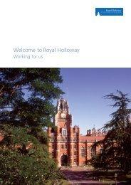 recruitment brochure - Royal Holloway, University of London