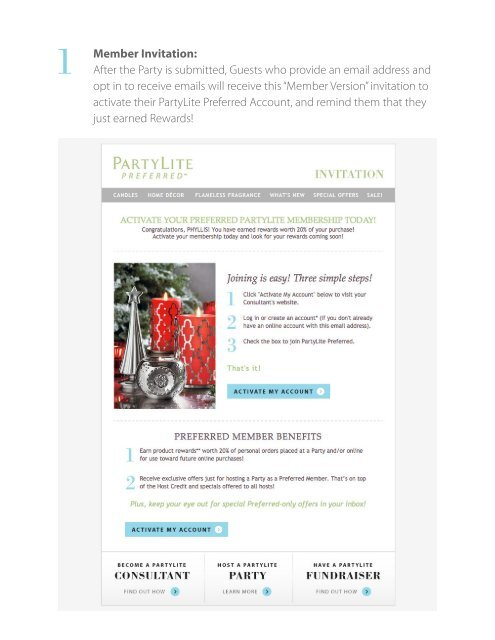 What Your Customers See Partylite Consultant Business Center