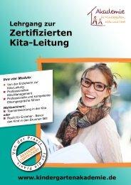 Zertifizierten Kita-Leitung - Akademie für Kindergarten, Kita und Hort