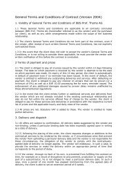 General Terms and Conditions of Contract - IBIS Prof. Thome