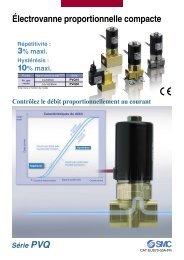 Série PVQ Électrovanne proportionnelle compacte - SMC ETech