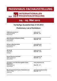 (vorläufige Ausstellerliste Internet 21.03.2012) - IG Passivhaus Tirol