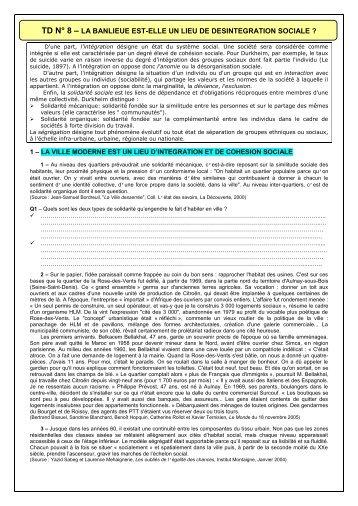 TD N° 8 - Banlieue et intégration sociale (2011-2012).pdf
