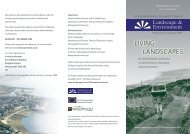 LIVING LANDSCAPES - Rural Economy and Land Use Programme