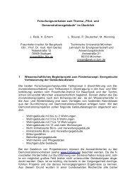 296 KB - Energetische Sanierung der Bausubstanz - EnSan