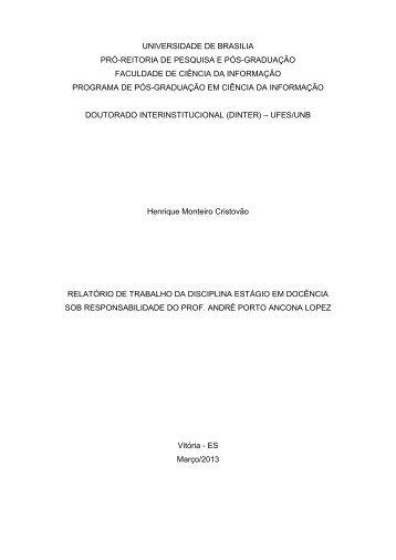 universidade de brasilia pró-reitoria de pesquisa e pós ... - CEUNES