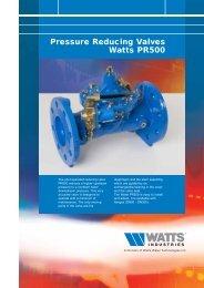 Pressure Reducing Valves Watts PR500 - Watts Industries