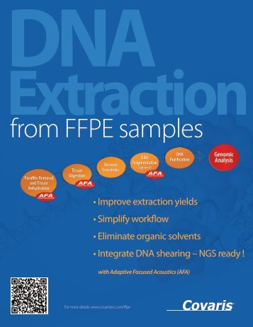 FFPE DNA Extraction Product Flyer - Covaris