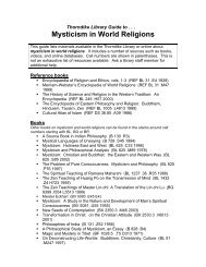 Thorndike Library Guide To . . . Mysticism In World Religions