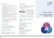 Flyer B.A. Betriebliche Bildung - Wissenschaftliche Weiterbildung