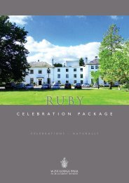 Ruby Package (PDF download) – £72.50 per person - Beales Hotels