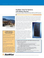 SunWize® Grid-Tie Systems with Battery Backup