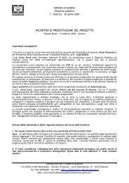 INCONTRO DI PRESENTAZIONE DEL PROGETTO - Urban Center