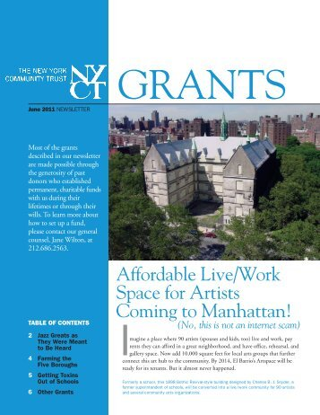 Grants - The New York Community Trust