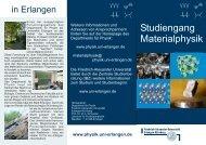 Flyer Materialphysik - Friedrich-Alexander-Universität Erlangen ...