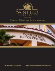Doctor of Business Administration - Saint Leo University