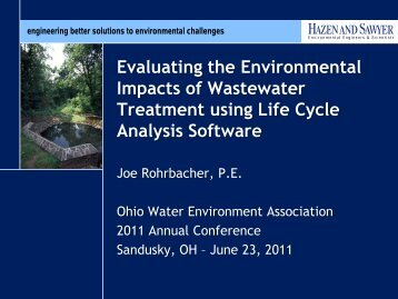 Evaluating the Environmental Impacts of Wastewater Treatment ...
