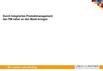 Ansätze zur Verbesserung der Situation - Liebich & Partner ...