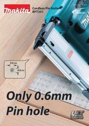 BPT351 Cordless Pin Nailer - Makita